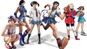 Video Game Archetypes: Fighting Schoolgirls by The4thSnake