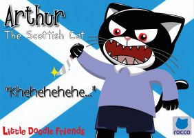 Arthur the Scottish Cat by QuirkyArtie