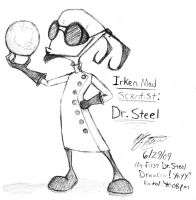 Irken Mad Scientist: Dr. Steel by VampireMistressKayla