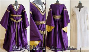 Purple and Gold Silk Bliaut by DaisyViktoria