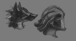 creature face concepts. by fortifiedsoul