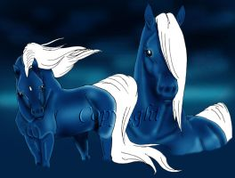 Magic horses by Arabis-Wild-Horses