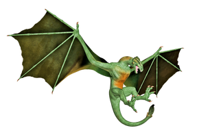 Dragon 01 PNG Stock by Roy3D