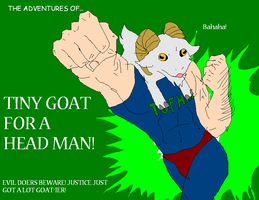 Tiny Goat For a Head Man by Metal-Kitty