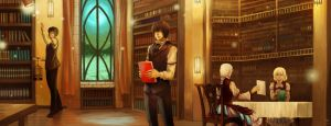 Fanart Fantasy Sataporn - Lupius Library by FrothTheStargazer