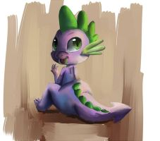 Spike teh dragon by Bread-Crumbz