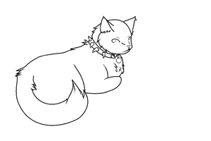 FREE cat lineart by Faustina13