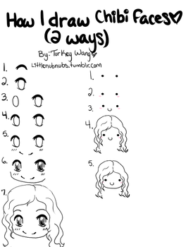 How I draw chibi faces by Turkey-Wang