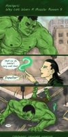 Reason Why Loki Wears A Muzzle #5 by skullanddog