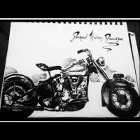 Panhead Harley by RebeccaDesigns