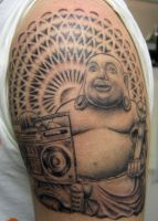 boombox buddha by farrensquare