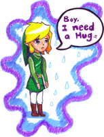 Sad Link is sad by Zelliana