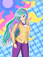 Princess Celestia Equestria Girls by ZantyARZ