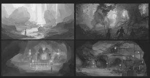 Environment sketches by ChristopherOnciu