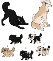 Pups for SoulsTails by AerithsAdopts