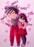 Dbz Chibi Couples #1: GoVi! by dbz-senpai