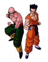 Tien and Yamcha by PauloDbZ
