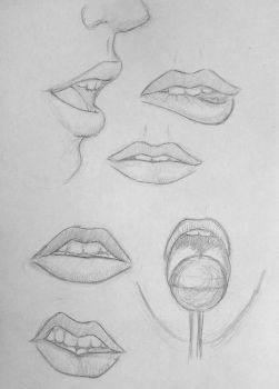 Sketchbook #49 Lips practice by Kiara2909