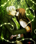 Ginko X Jess Mushi Whispers by AngelKiller666