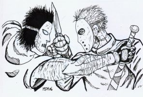 Casey Jones VS Jason by MilkManX