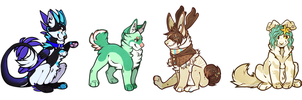 Finished Chibi ychs by Junebuq