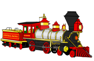 Central Pacific No. 24 by RailToonBronyfan3751