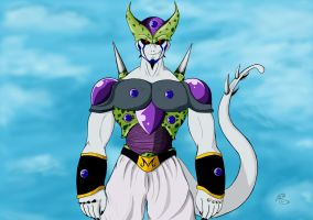 Quad fusion (Frieza, Cell Bu and Omega Shenron) by creepycrow6