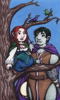 Kora and the Dancing Bard by rachelillustrates