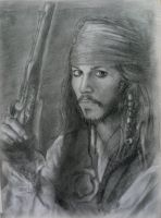 Jack Sparrow by shadowpaintedwhite