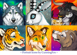 June portrait icons by CunningFox