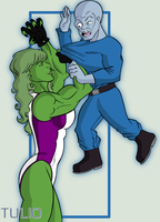 She Hulk and Gargoyle by TULIO19mx