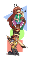 Commission: Human tower by GusDraws
