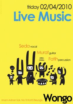 live music event flyer by mendo2020