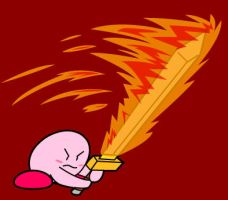 Kirby Flame Sword by KingMonster