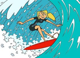 TDI Surfergirl-coloured by TDI-Exile
