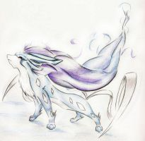 Suicune Sketch by MysticSuicune