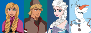 Characters Of Disney's Frozen by Creepyland