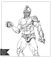 20111225 Warrior - Lineart by white-briefs