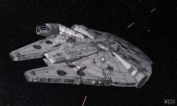 Millennium Falcon for XPS (posable) by Haganeya