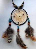 Dreamcatcher pendant (turquoise) by SuvetarsWell