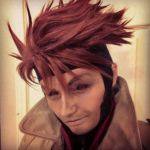 Gambit Wig/ Makeup Test 1 by xHee-Heex