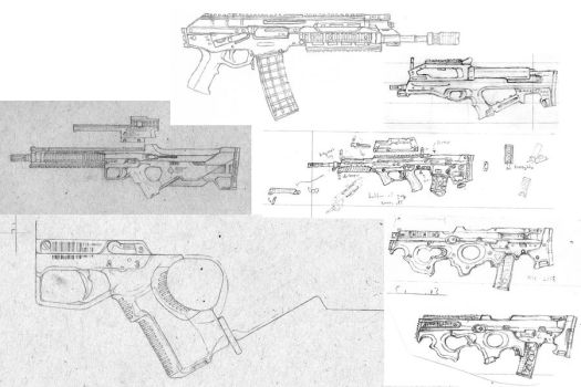 Random Weapon Design Sketchdump by Nyandgate