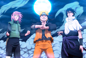 Naruto 632 - Team 7 reunited! by hyugasosby