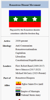 Ronastrese Dissent Movement Wikibox by Party9999999
