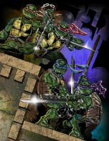 TMNT Color by henflay