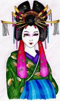 Oiran Collab by KatyCrayon