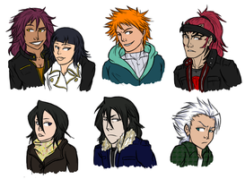 Bleach AU, Shinigami side (1) by snakes-on-a-plane
