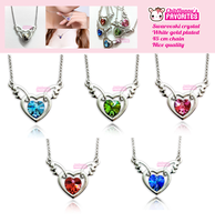 Beautiful crystal heart necklaces by tho-be