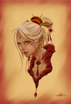 Fenghuang portrait by Lily-Fu