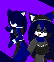 Old Picture: Two Blue Kittys by BlueRoseAngel15